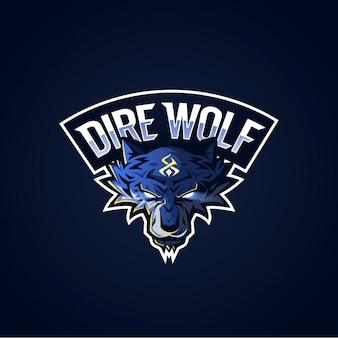 Logo dire wolf esport