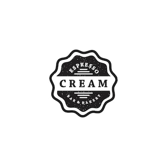 Logo distintivo bar panetteria vintage