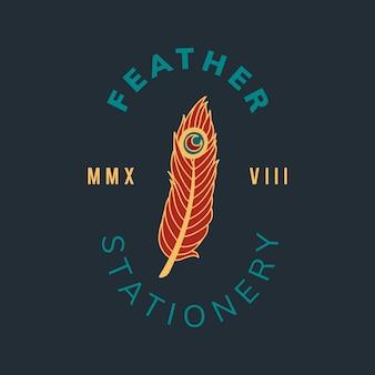 Logo distintivo d'annata con il vettore di progettazione del testo