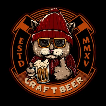 Logo distintivo dell'emblema della birra
