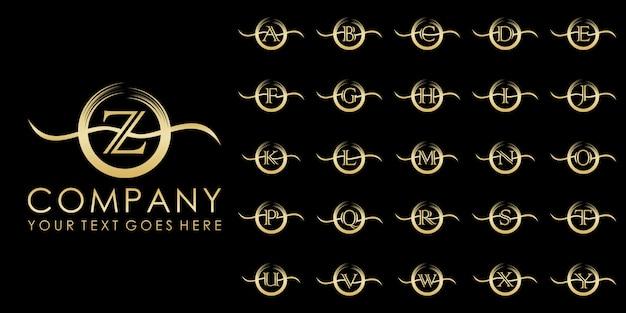 Logo distintivo di lusso iniziale, modello