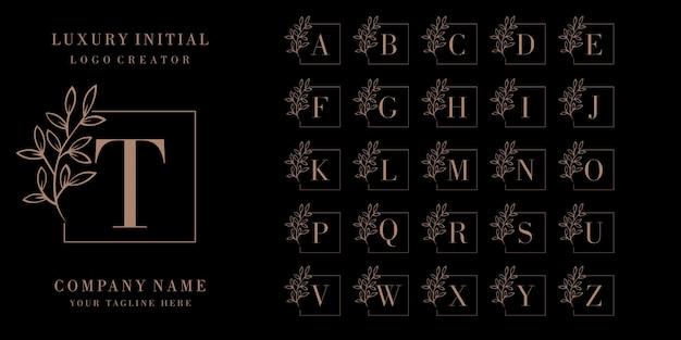 Logo distintivo iniziale di lusso