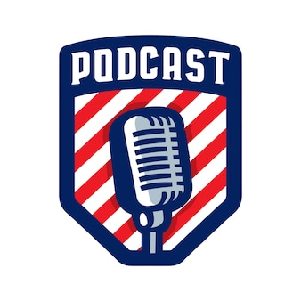 Logo distintivo podcast