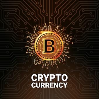 Logo dorato bitcoin