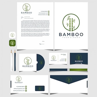 Logo e biglietto da visita di bambù