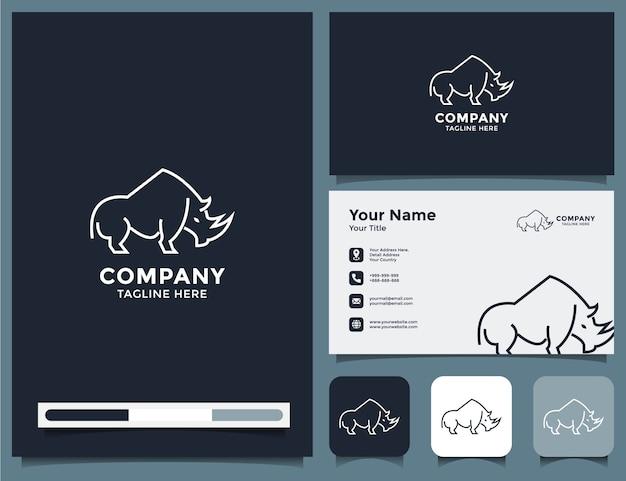 Logo e biglietto da visita di rinoceronte
