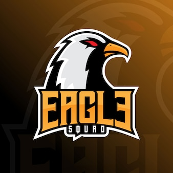 Logo eagle falcon team e-sport mascot