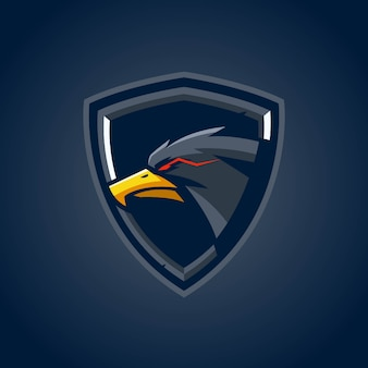 Logo eagle shield esports