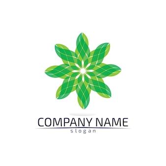 Logo ecologico foglia albero