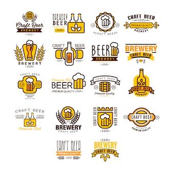 Logo ed etichette della birra