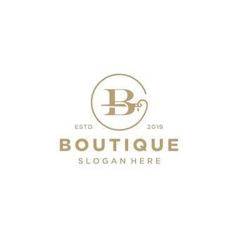 Logo elegante lettera b.