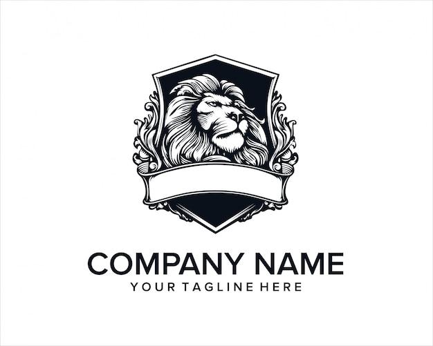 Logo emblema della testa del leone