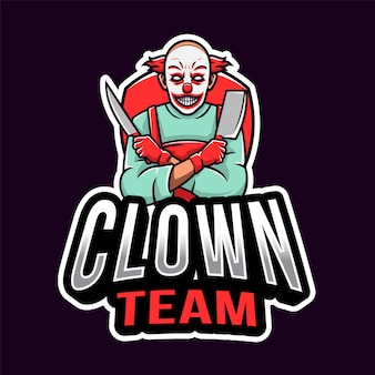 Logo esport clown killer