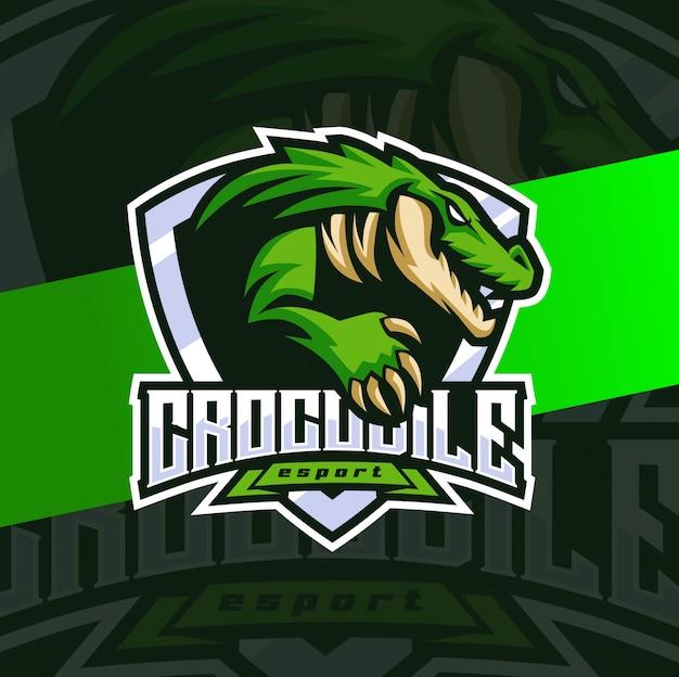 Logo esport coccodrillo alligatore mascotte