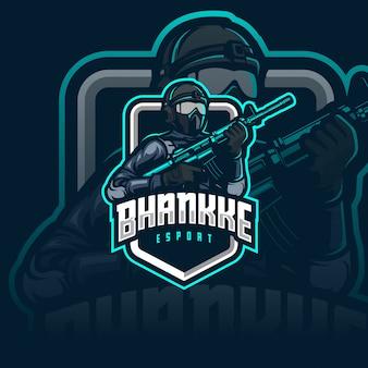 Logo esport del soldato