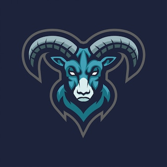 Logo esport di pecora capra ram mascotte