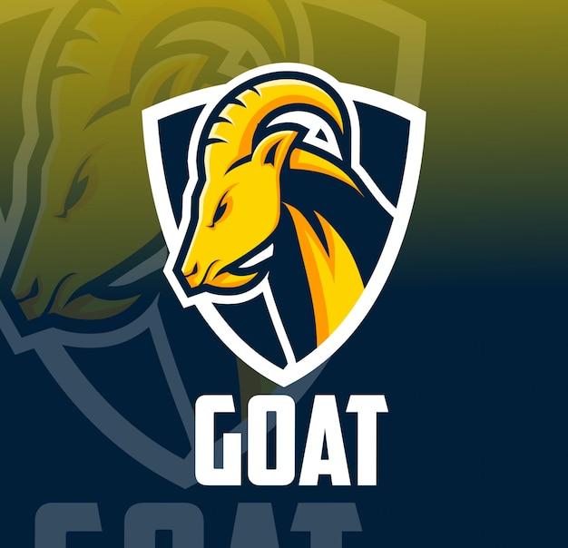 Logo esport mascotte di capra