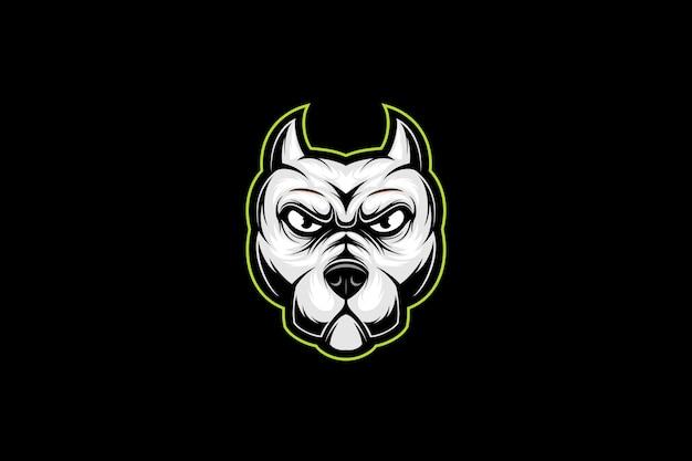 Logo esport testa di pitbull