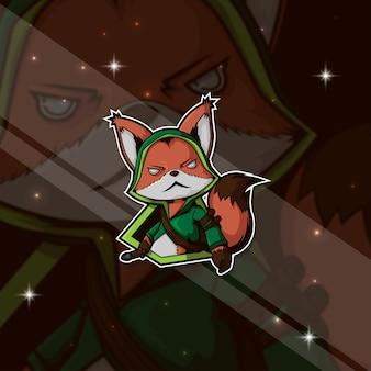 Logo esportazione gamer fox