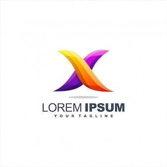 Logo fantastico lettera x