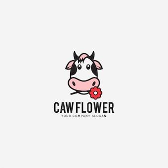 Logo fiore di mucca