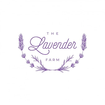Logo fiori di lavanda