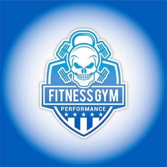 Logo fitness teschio
