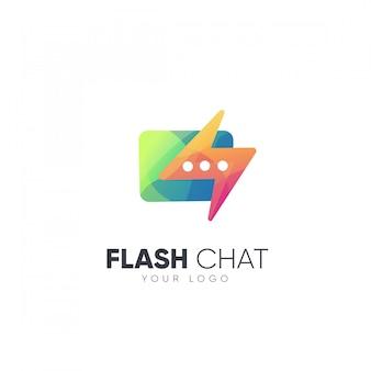 Logo flash chat design