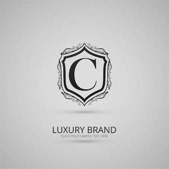 Logo floreale di marca di lusso