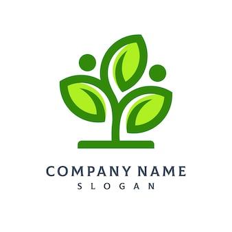 Logo foglia albero
