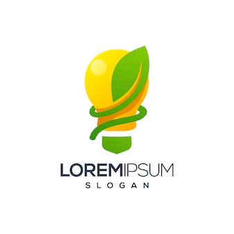 Logo foglia di bulbo
