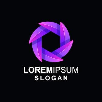 Logo foglia gradiente