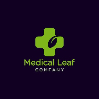 Logo foglia medica
