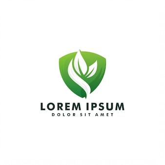 Logo foglia verde