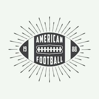 Logo football americano
