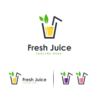 Logo fresh juice, logo sweet drink