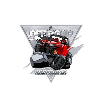 Logo fuoristrada atv buggy