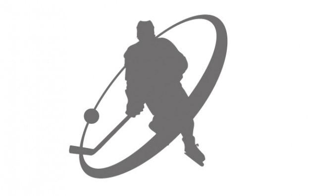 Logo giocatore di hockey