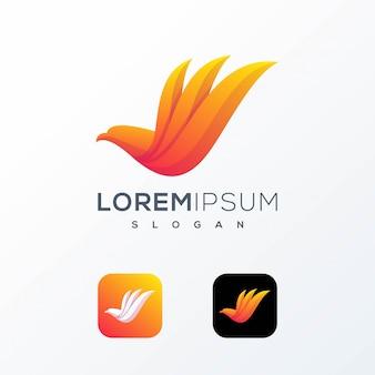 Logo grafico uccello