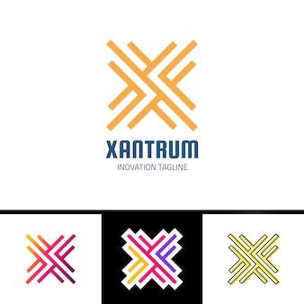 Logo grafico vettoriale creativo linea logotipo simbolo o logo lettera x.