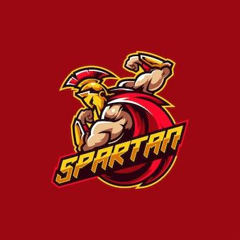 Logo guerriero spartano e logo di gioco