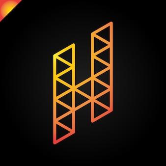 Logo h lettera isometrica