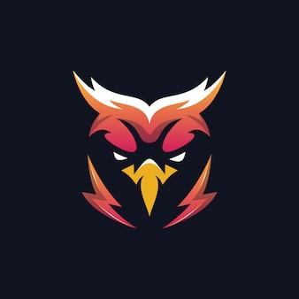 Logo head eagle