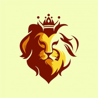 Logo head lion