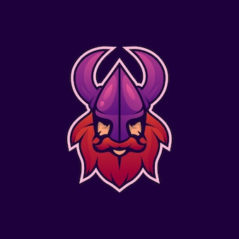 Logo head viking esport