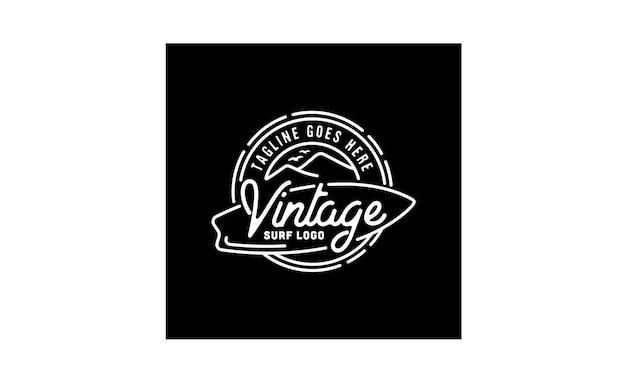 Logo hipster stamp surf design