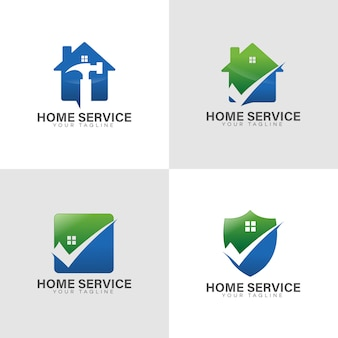 Logo home service