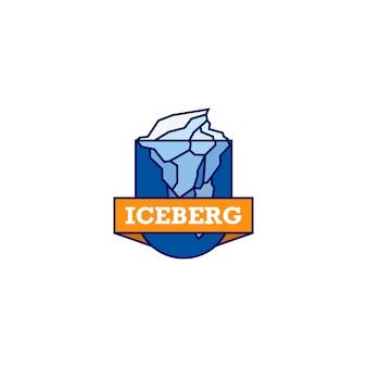 Logo iceberg pronto all'uso