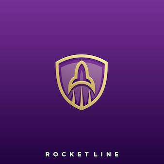 Logo icona di razzo modello di disegno vettoriale