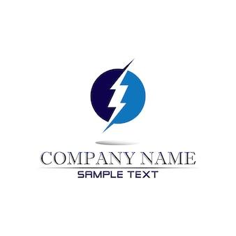 Logo icona fulmine elettrico vettoriale